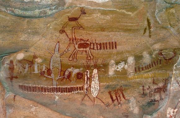 itacoatiara-pintura-rupestre-astronomica-tupi-guarani-no-parque-nacional-da-serra-da-capivara-brasil-creditos-wikimedia-commons