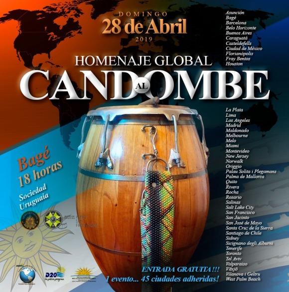 Cartaz - Homenaje Global al Candombe - Bagé